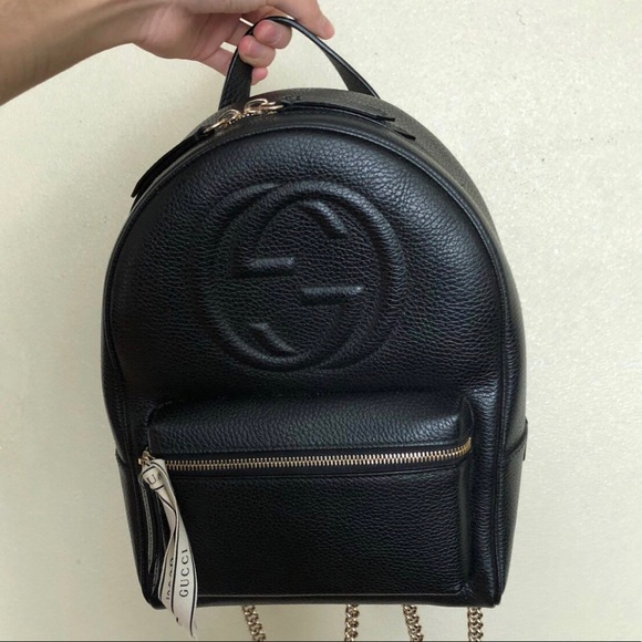 b7c7eae0cef9 Gucci Handbags - Gucci Soho Backpack